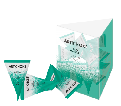 J-ON Artichoke Deep Moisture Sleeping Pack Маска для лица ночная с экстрактом артишока, пирамидка, 5гр