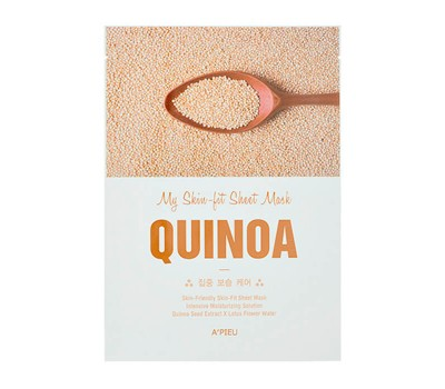 A'PIEU My Skin-Fit Sheet Mask Quinoa Тканевая маска для лица с экстрактом киноа, 25гр